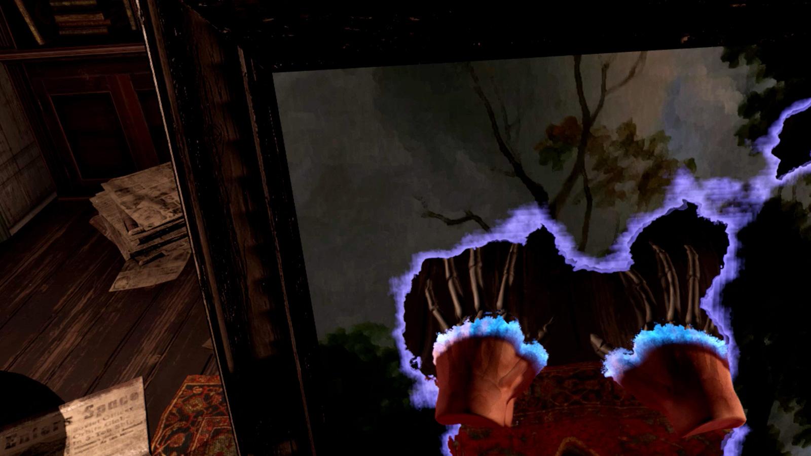 Skeleton hands through a mirror | Fallen Planet