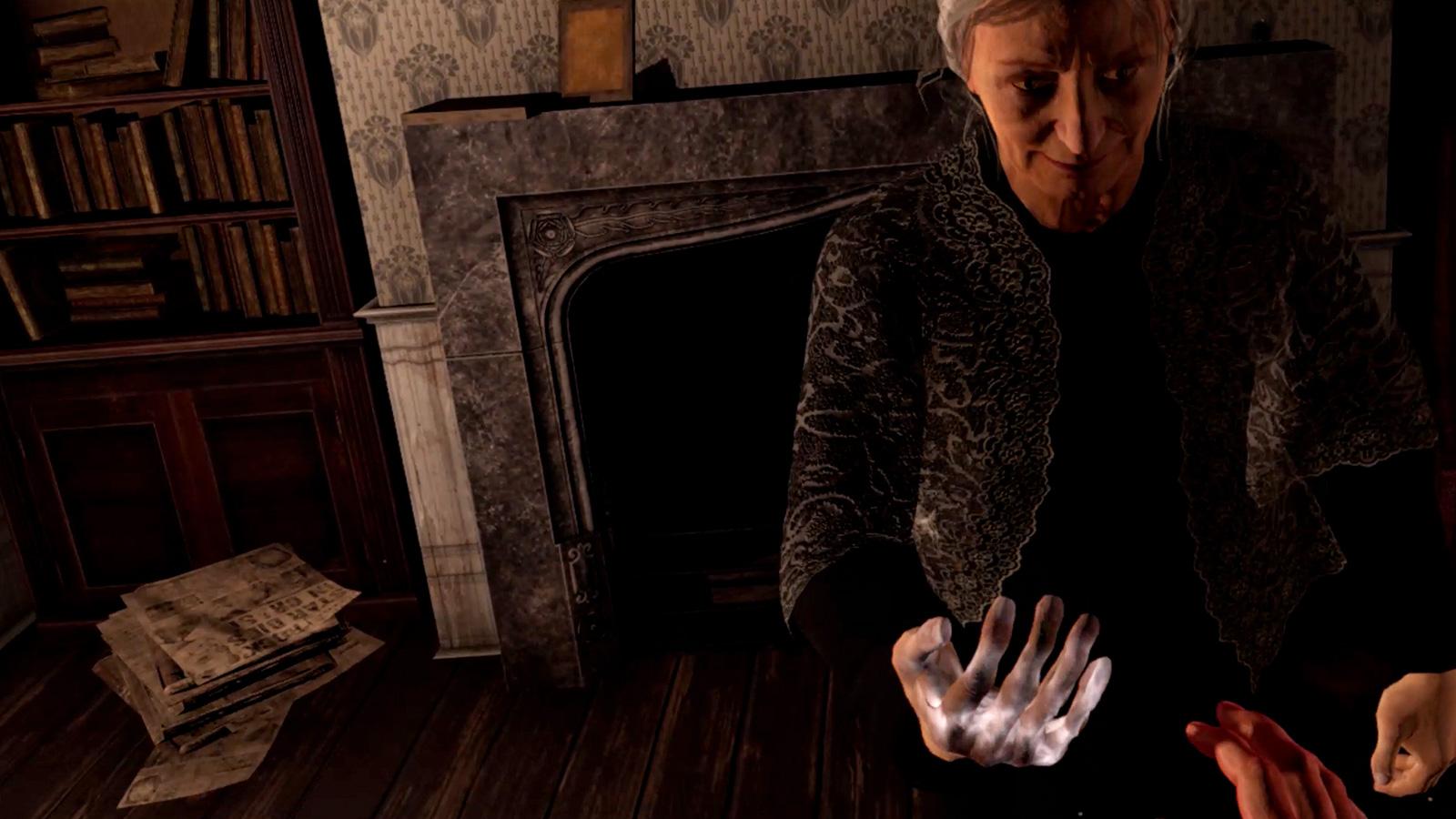 Fallen Planet elderly lady hand