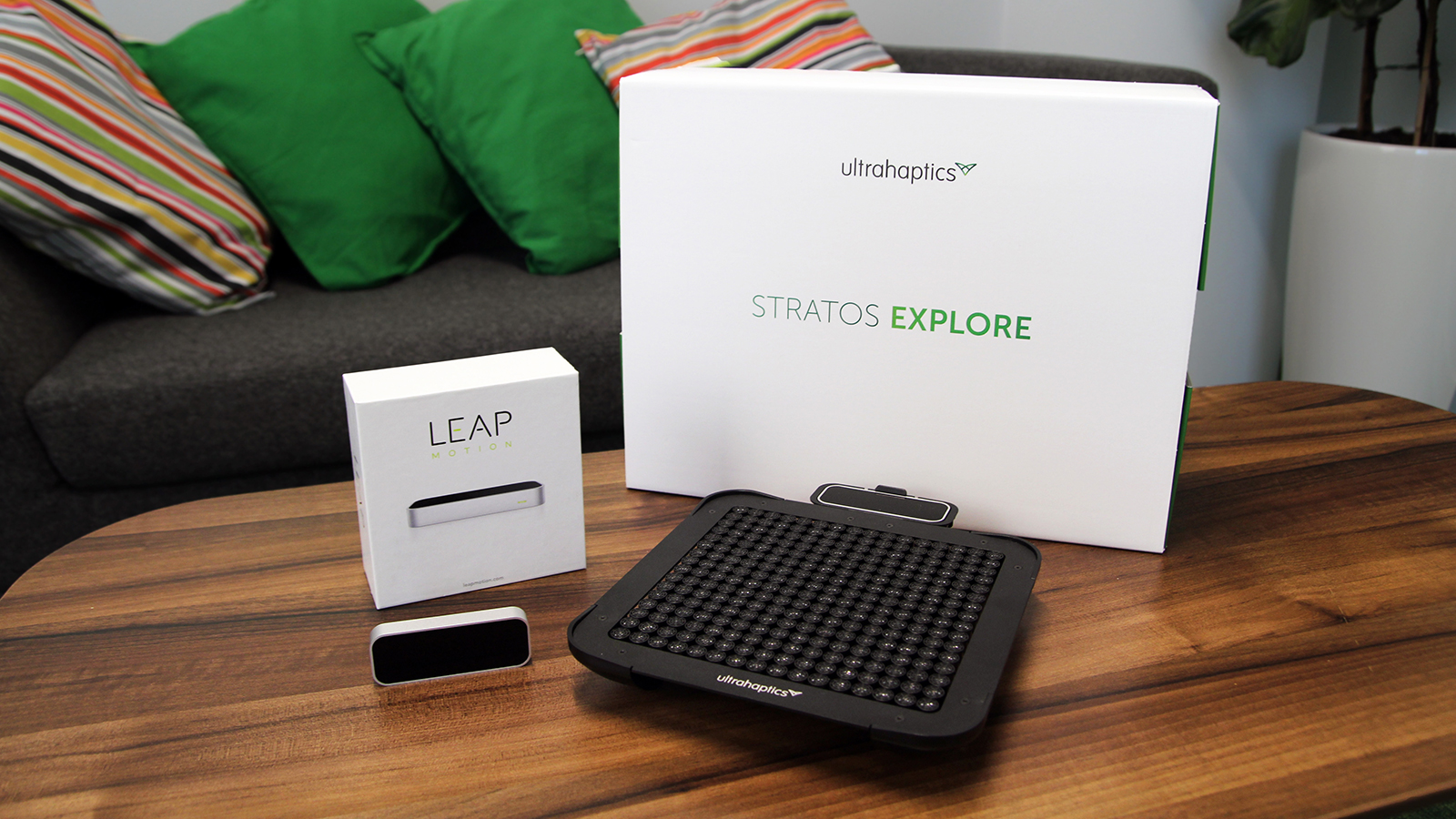 Leap Motion and Ultrahaptics STRATOS Explore products