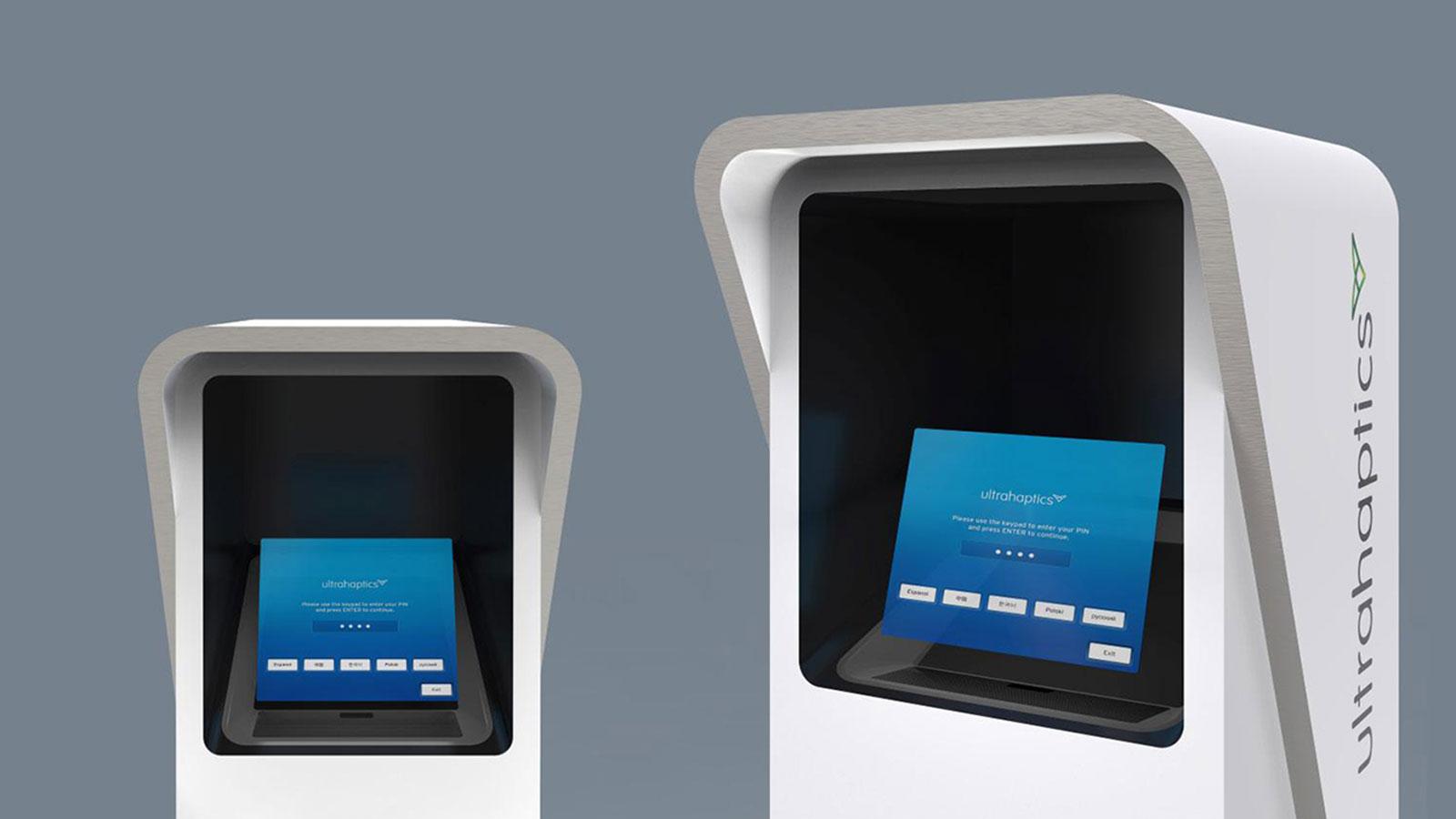 Asukanet and Ultrahaptics haptic hologram ATM
