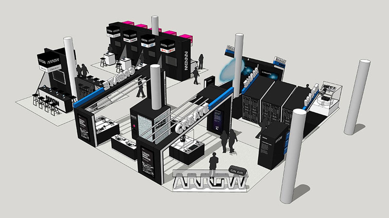 Arrow CES 2019 stand design concept