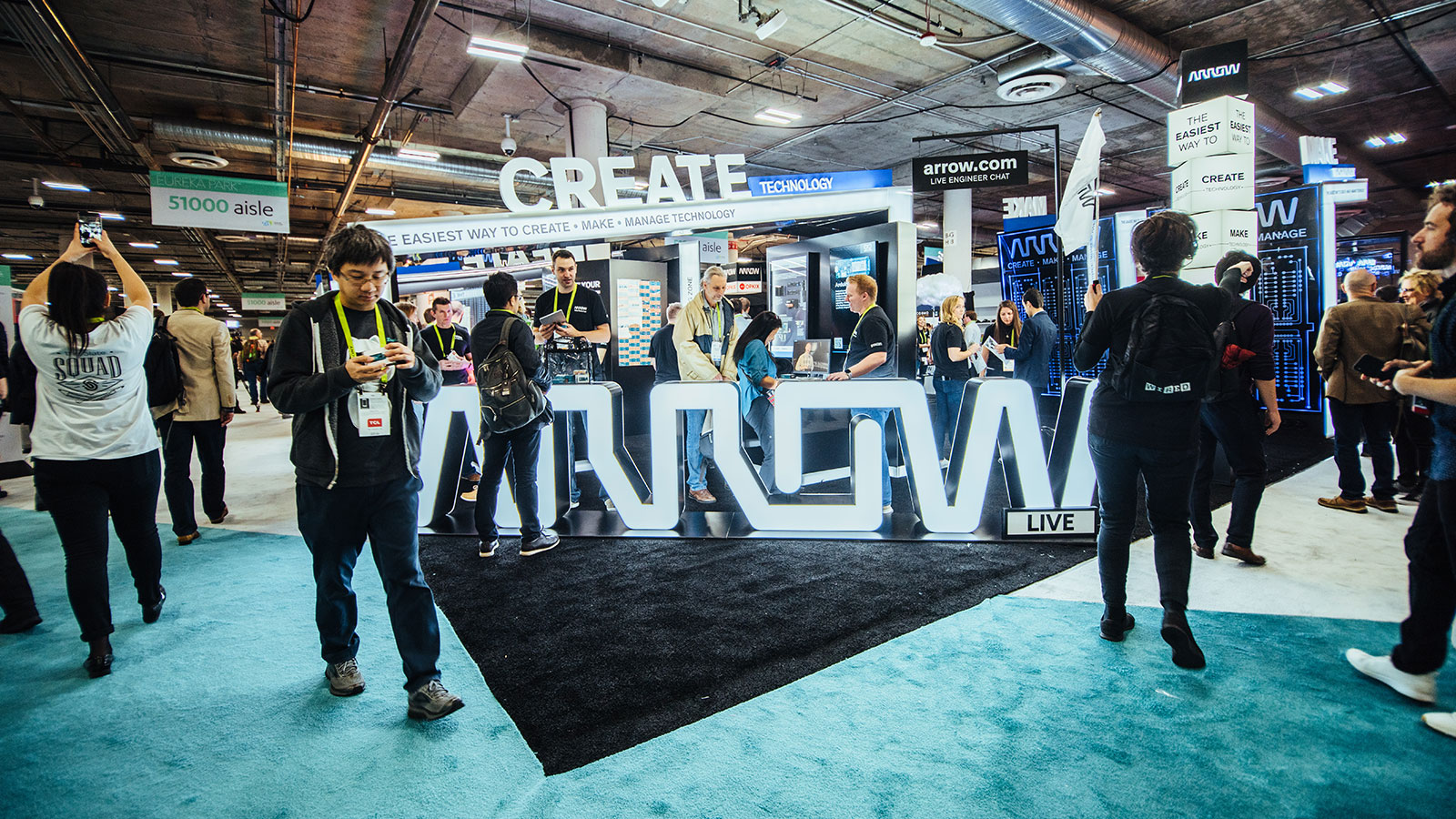 Arrow Electronics booth at CES