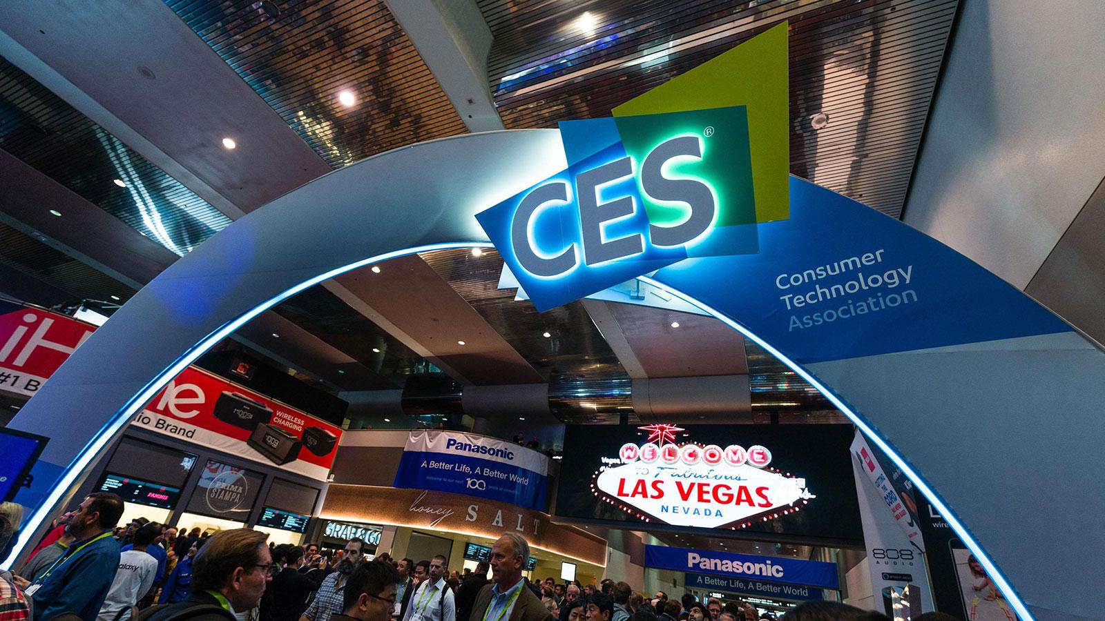 CES show floor
