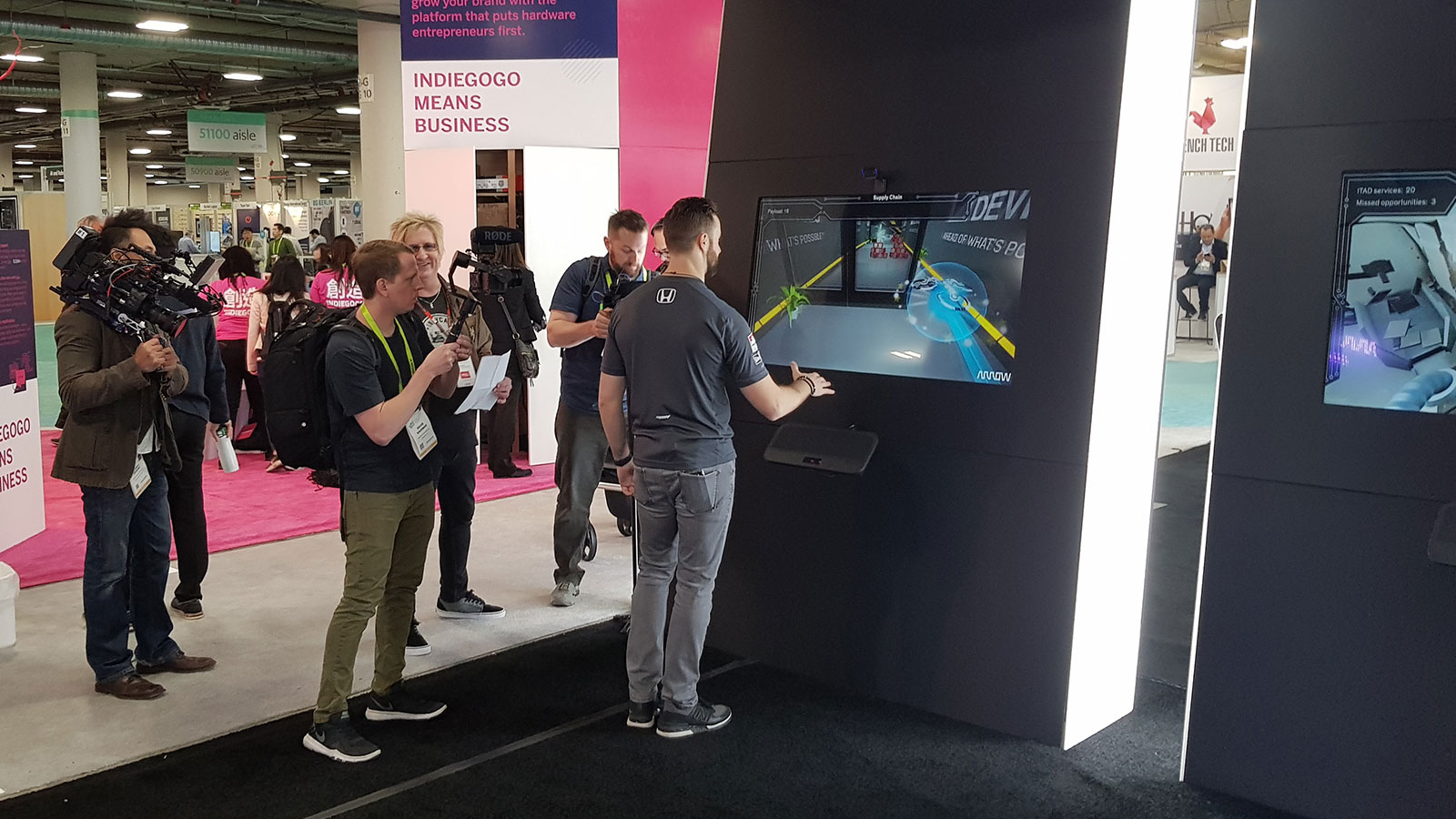 Ultraleap technology at Arrow's CES booth