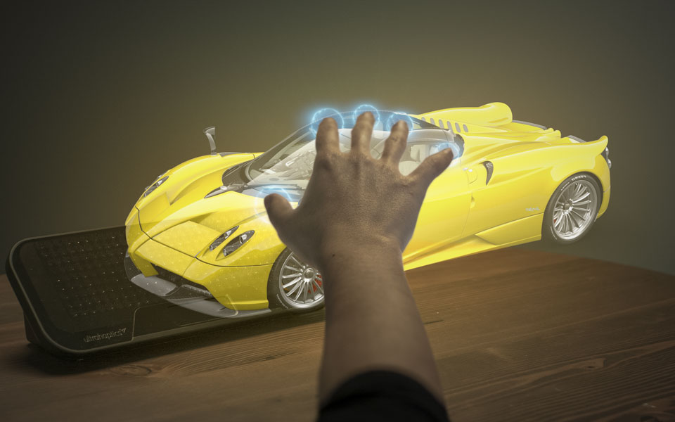 Ultraleap virtual Pagani Roadster car
