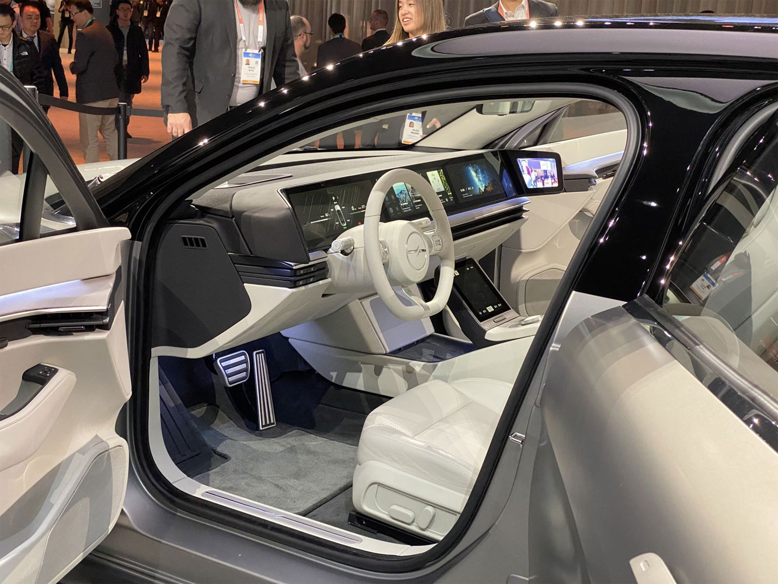Inside Sony's Vision-S concept car at CES 2020