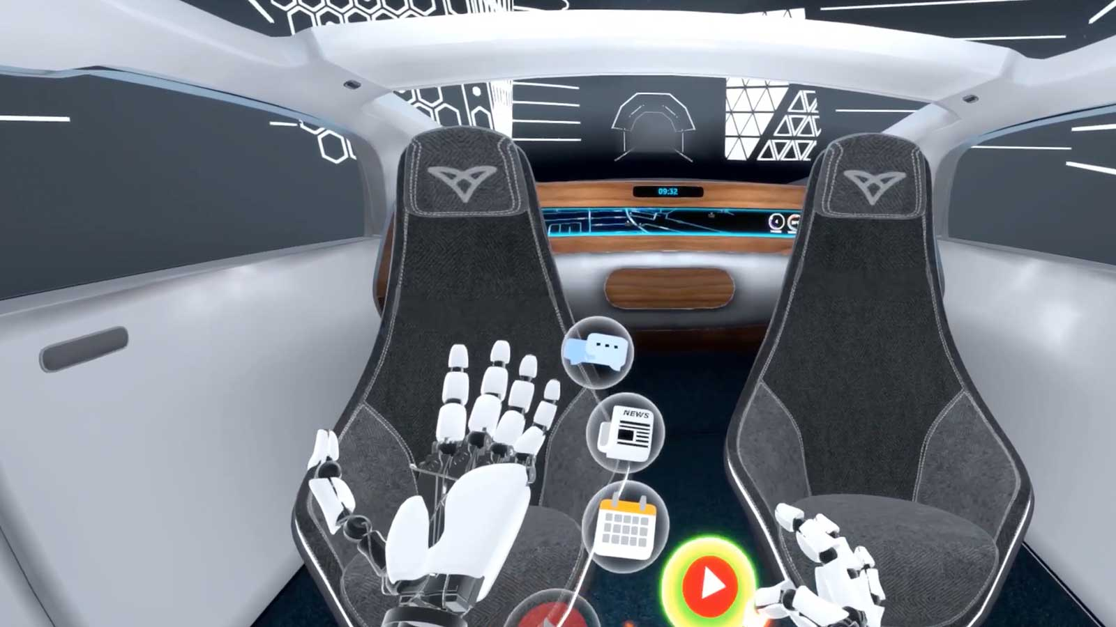 Ultraleap automotive VR HMI
