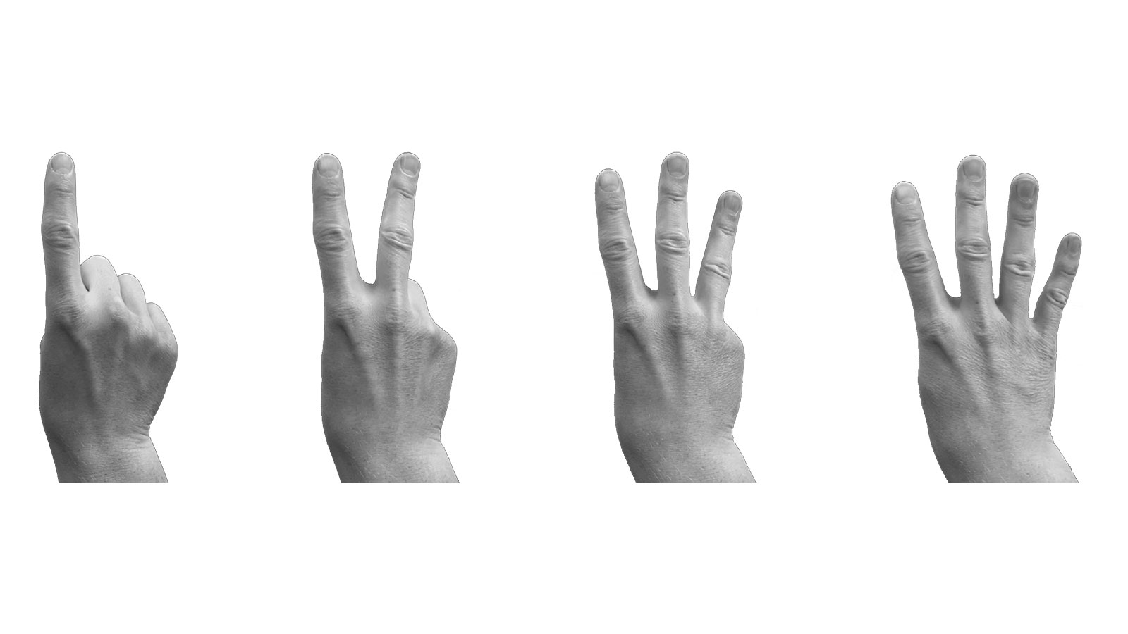 Finger poses for automotive interactions