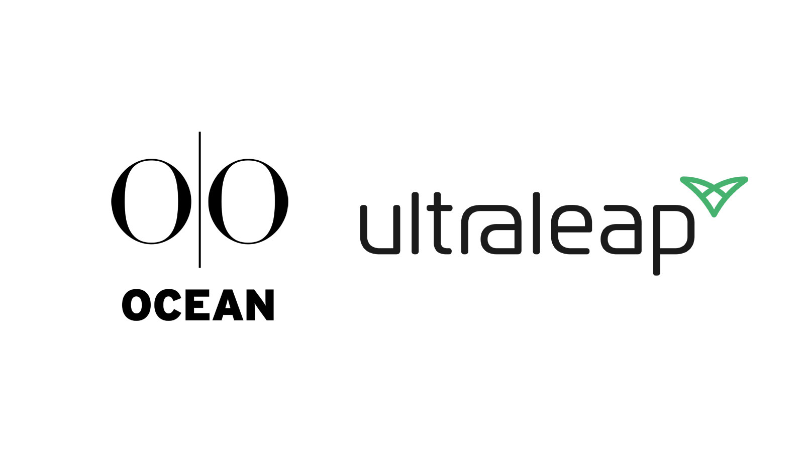 Ocean Outdoor and Ultraleap logos