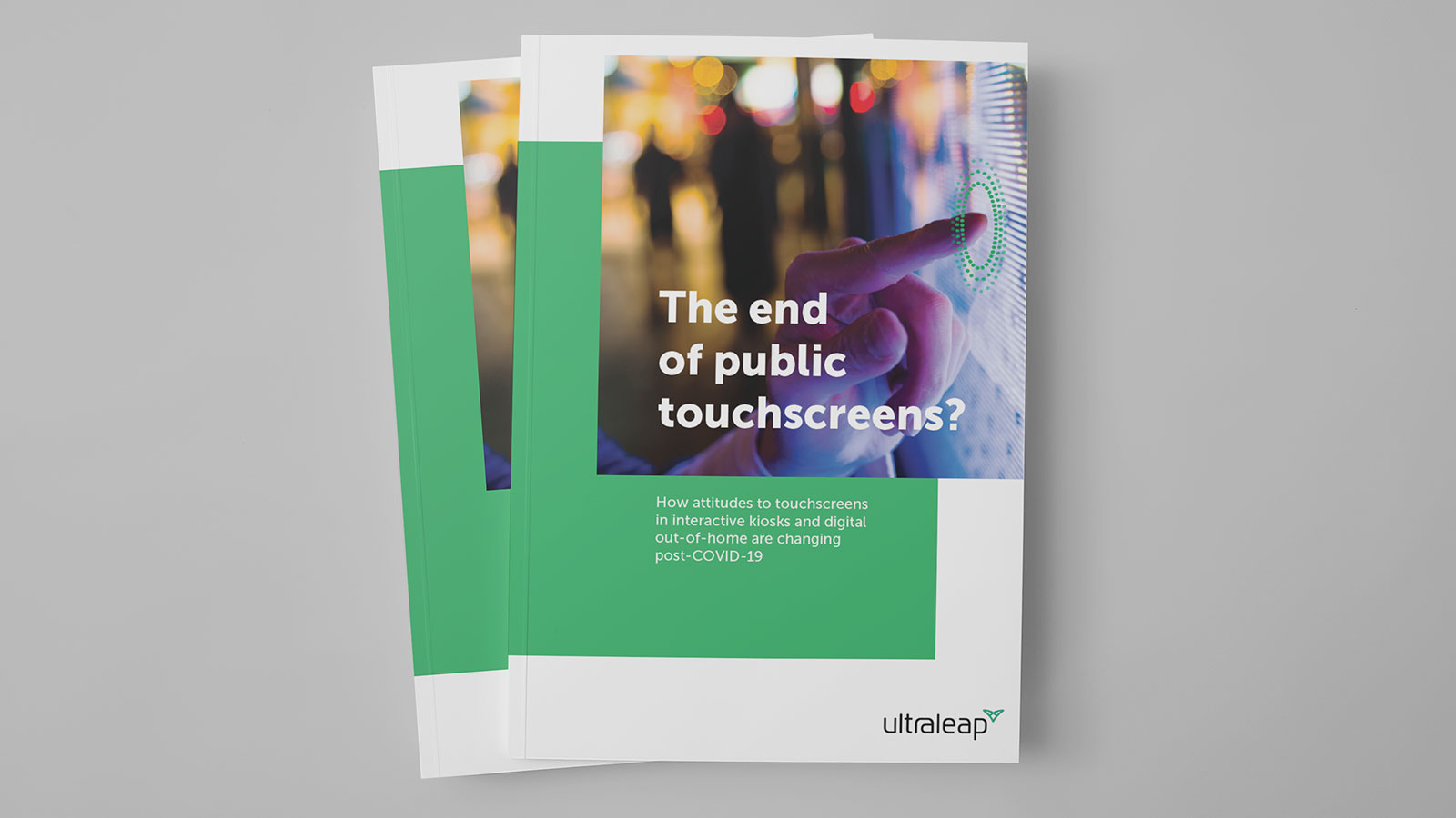Ultraleap contactless public touchscreens whitepaper cover