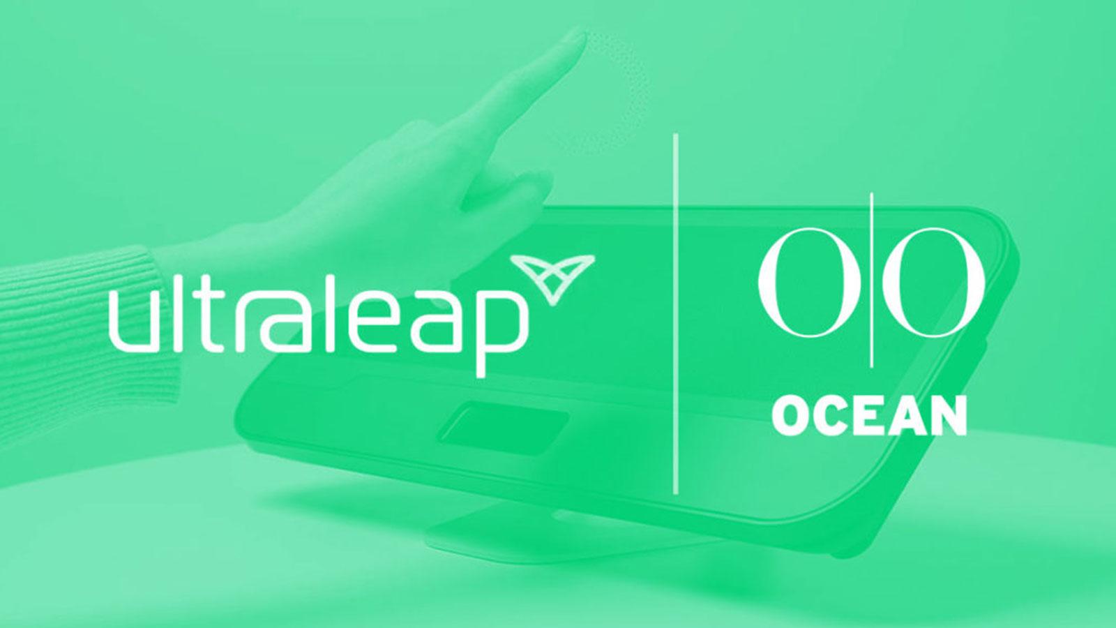 Ocean Outdoor and Ultraleap logos