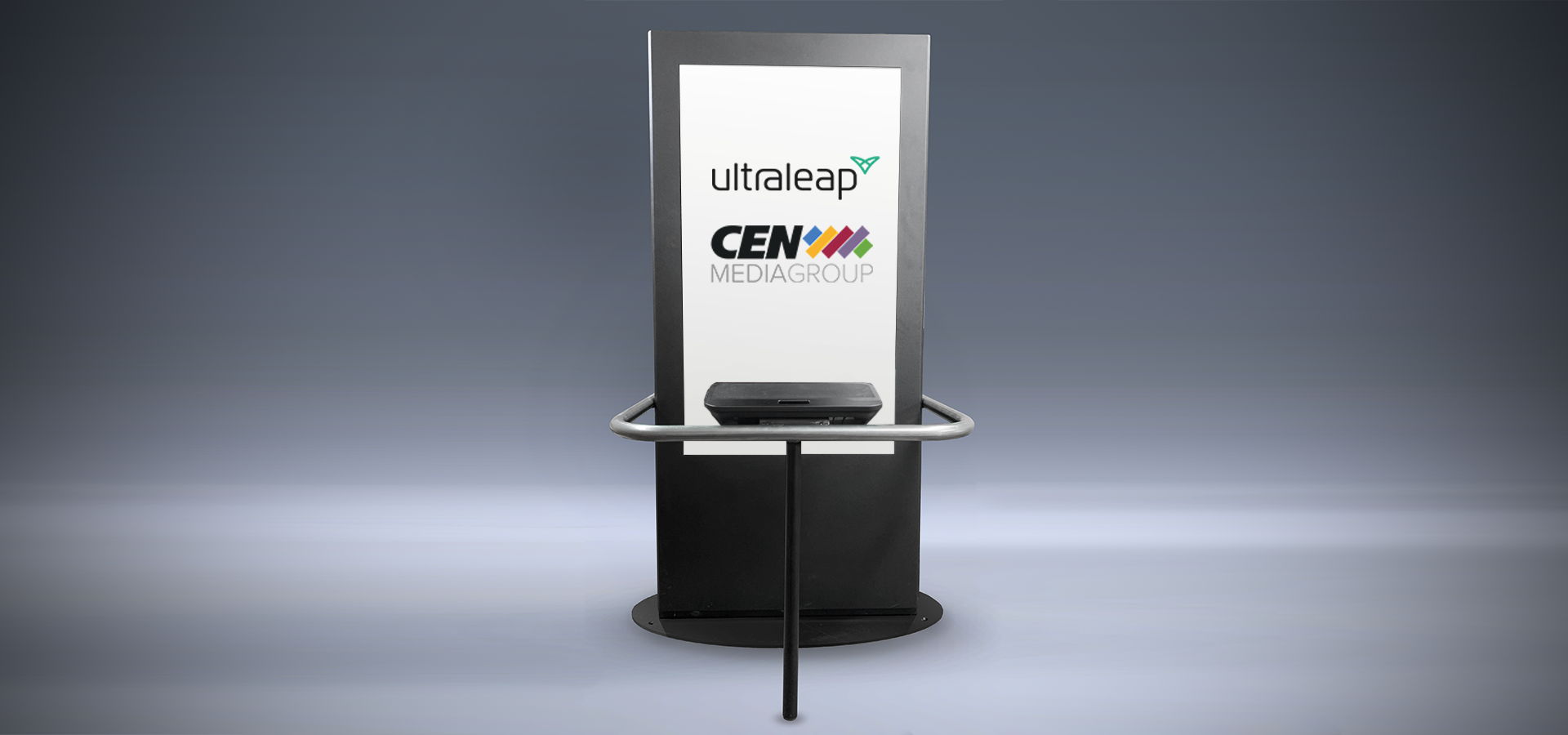 CEN and Ultraleap touchless advertising technology at movie theater