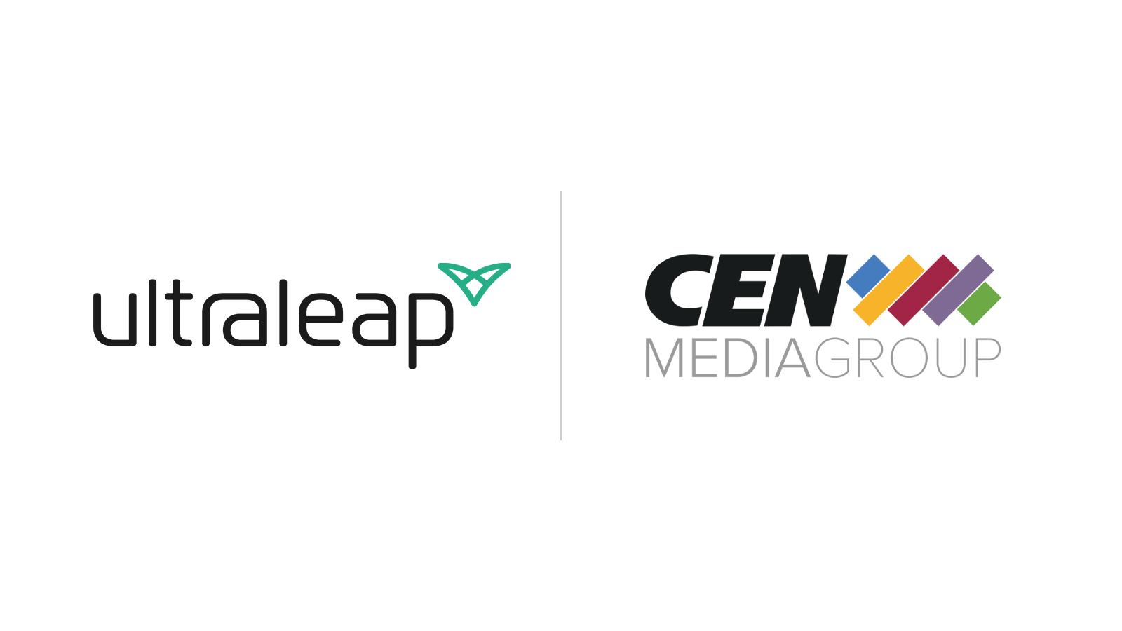 Ultraleap and CEN Media logos