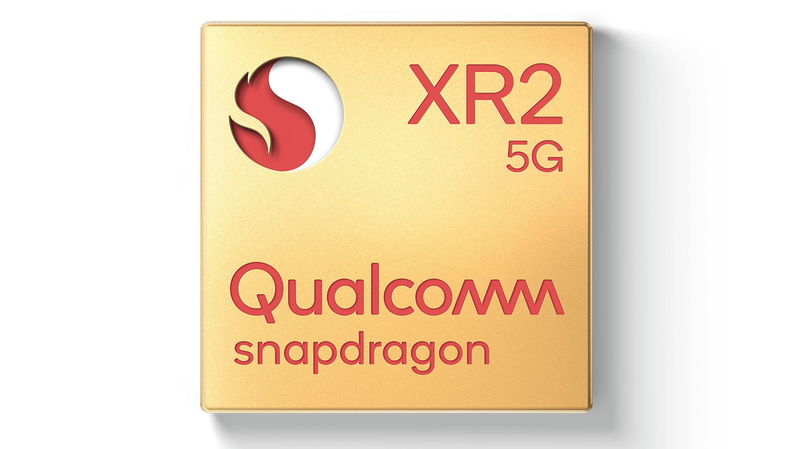 Qualcomm Snapdragon XR2 chip gold