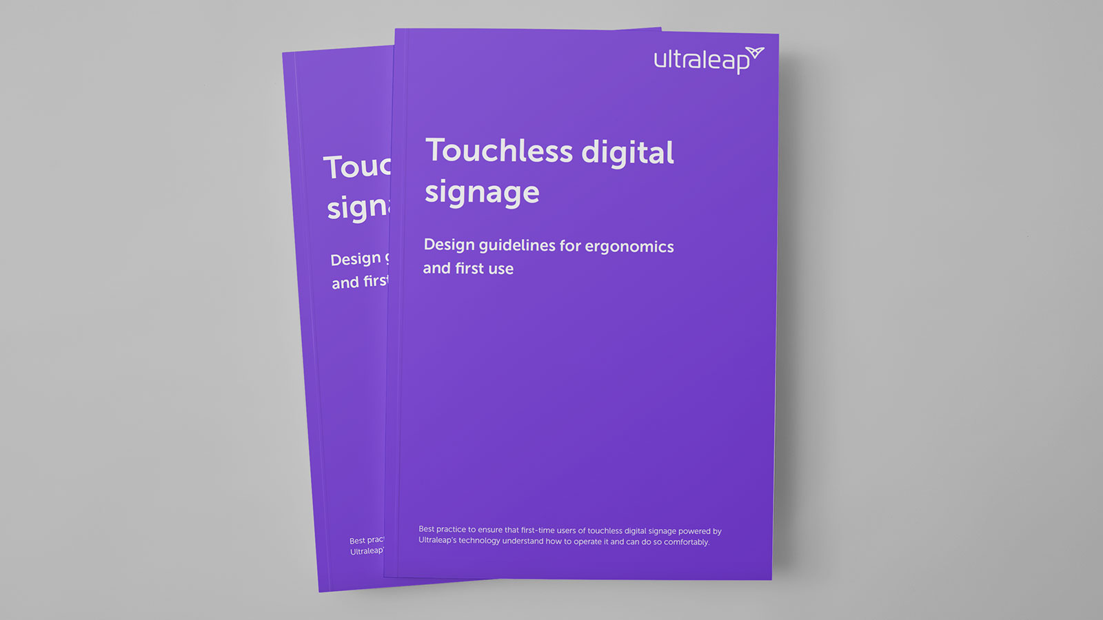 Touchless DOOH guide cover