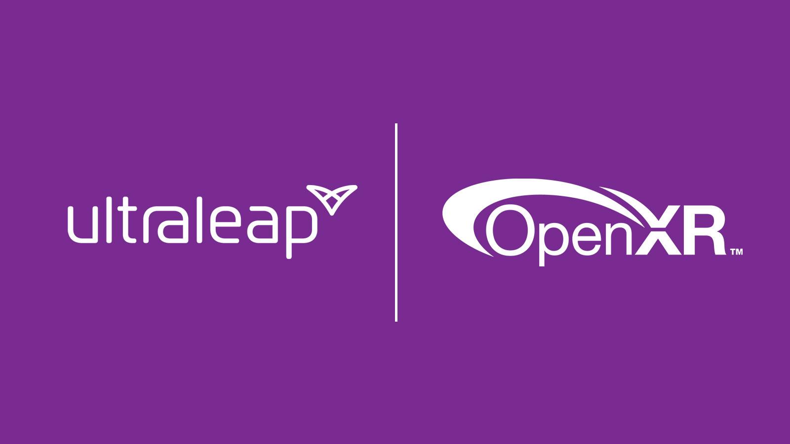 Ultraleap and OpenXR logos