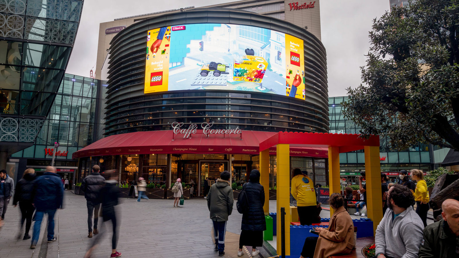 Lego interactive haptic experience at Westfield Stratford