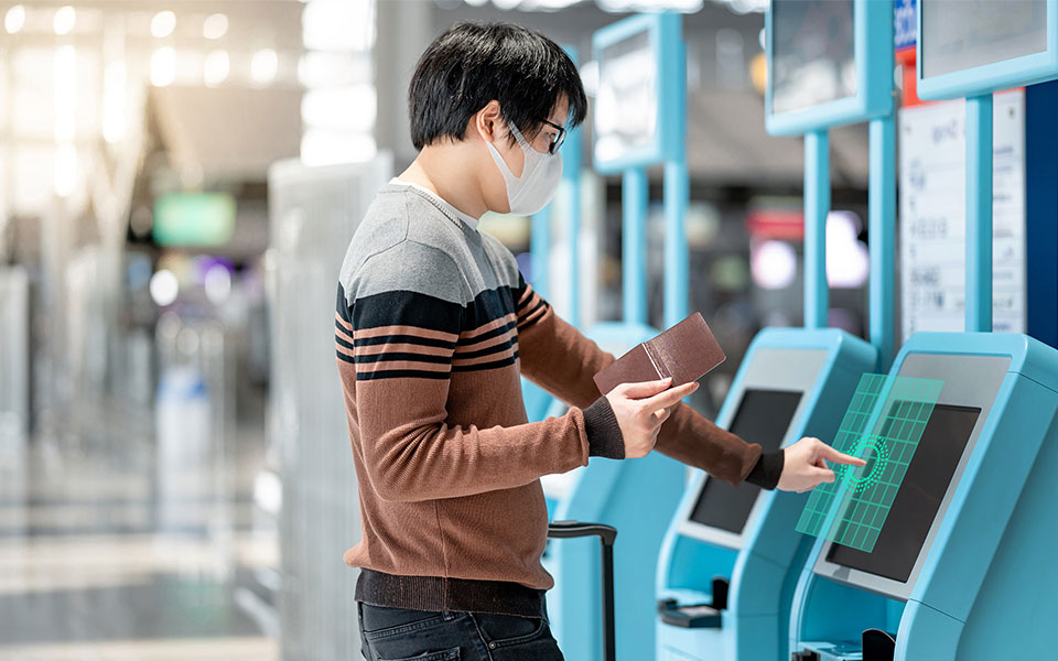TouchFree touchless kiosk