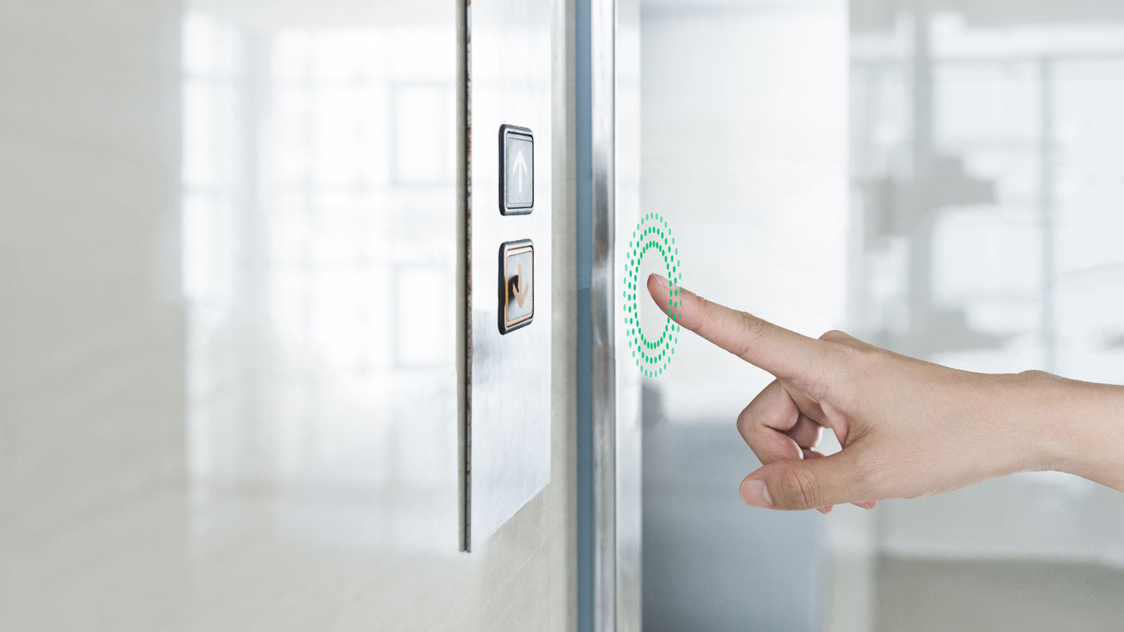 Ultraleap touchless elevator button