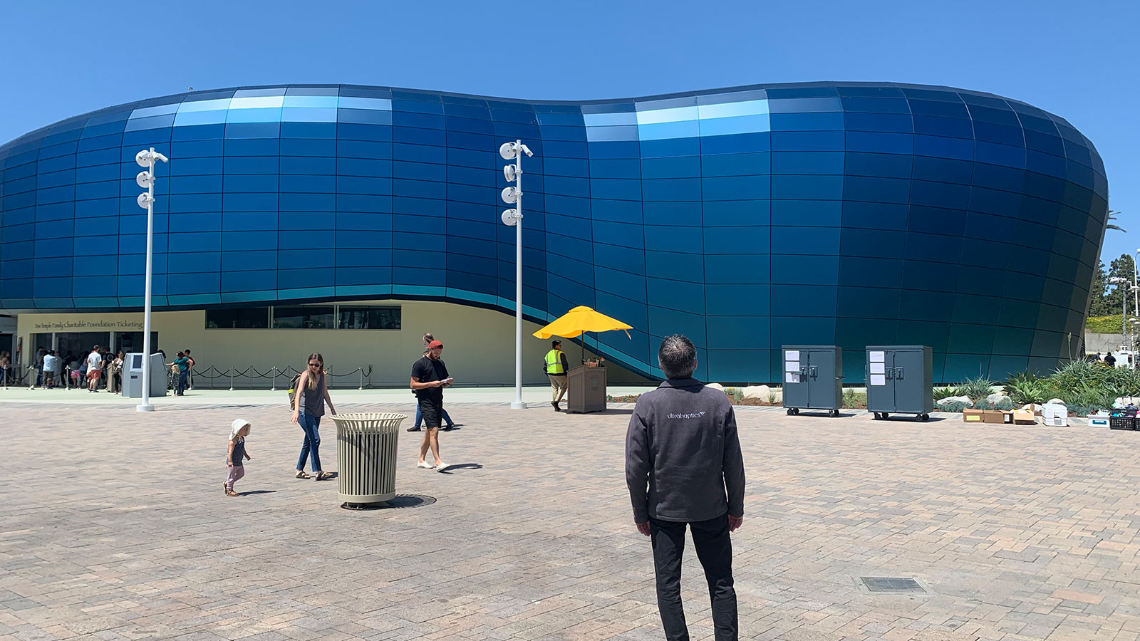 Outside of the Honda Pacific Visions Theater at the Aquarium of the Pacific in Long Beach, California