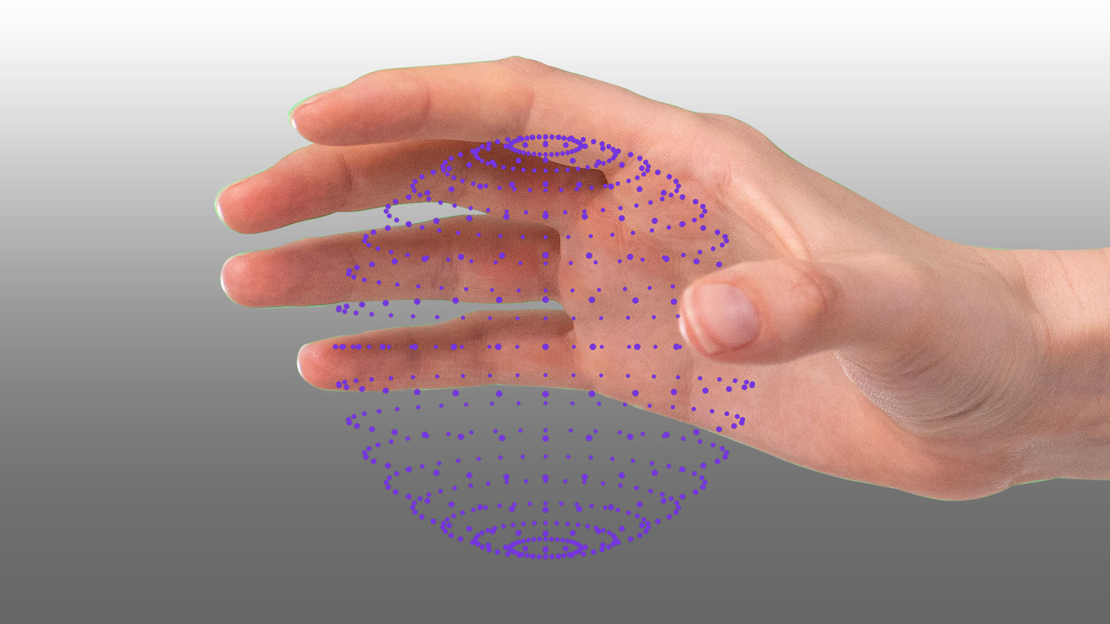Ultraleap haptics particles in hand