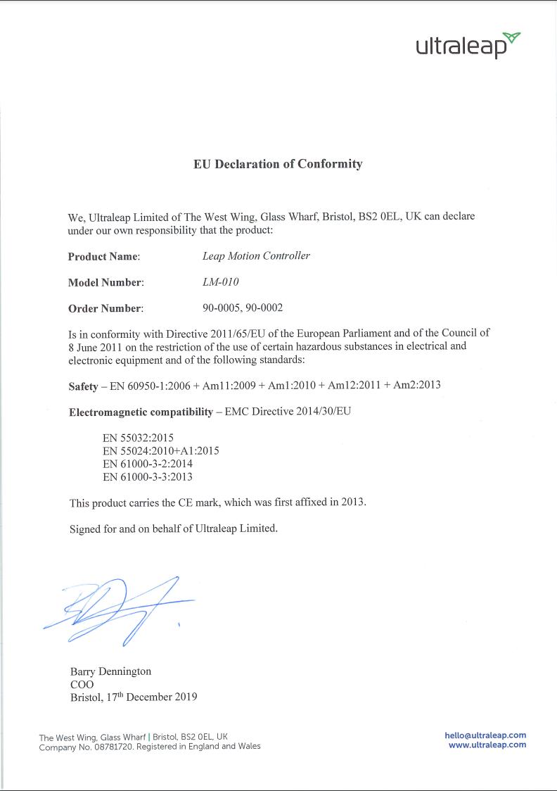 EU Declaration Conformity