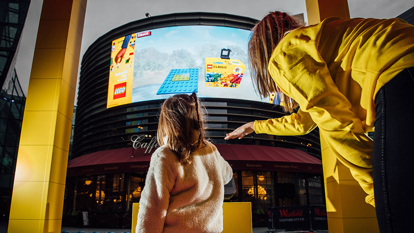 LEGO interactive billboard