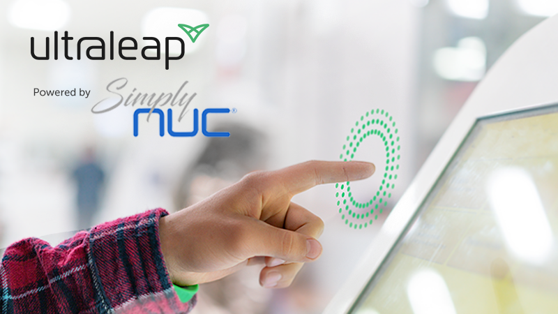 Simply NUC and Ultraleap TouchFree bundle