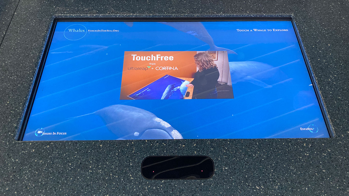 Touchless screen controlled by leap motion controller