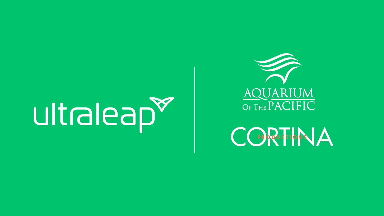 Logos - Ultraleap, Cortina Productions and Aquarium of the Pacific