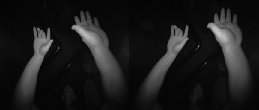 Ultraleap Hand Tracking Camera image of hands